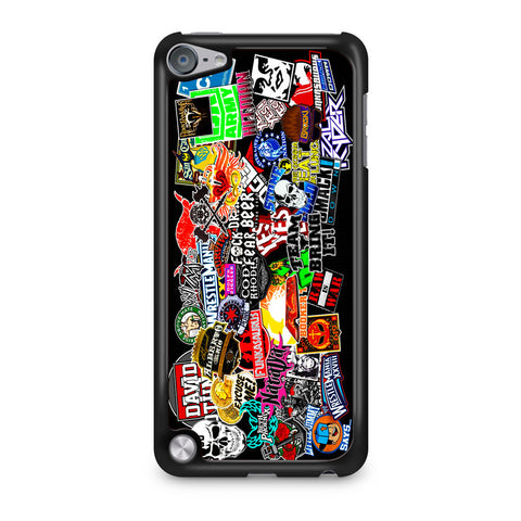 WWE Stars Logo Collage iPod Touch 5 Case