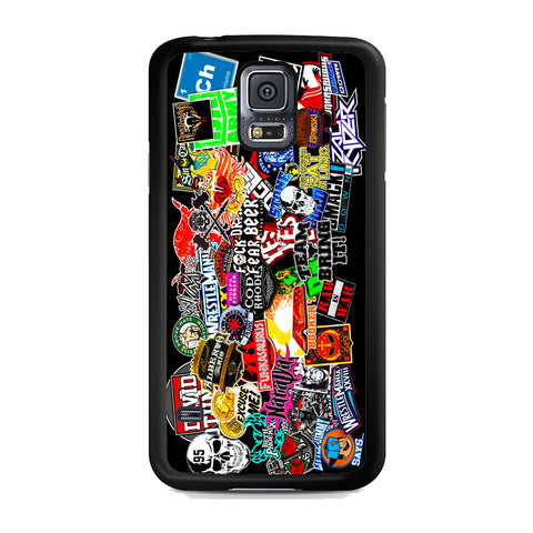 WWE Stars Logo Collage Samsung Galaxy S5 Case
