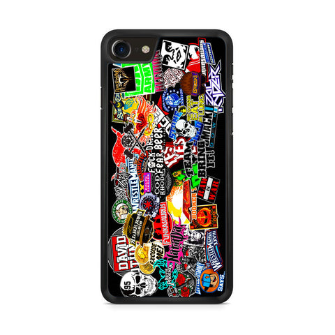 WWE Stars Logo Collage iPhone 8 Case