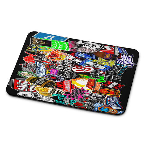 WWE Stars Logo Collage Mouse Pad