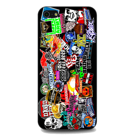WWE Stars Logo Collage iPhone 5 | 5S | SE Case