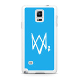 Watch Dogs 2 Sky Blue Logo Samsung Galaxy Note 4 Case
