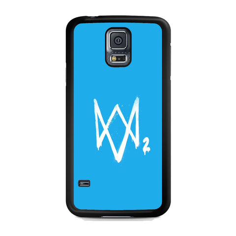 Watch Dogs 2 Sky Blue Logo Samsung Galaxy S5 Case