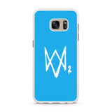 Watch Dogs 2 Sky Blue Logo Samsung Galaxy S7 | S7 Edge Case