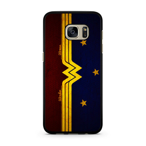 Wonder Woman Red Blue Logo Samsung Galaxy S7 | S7 Edge Case