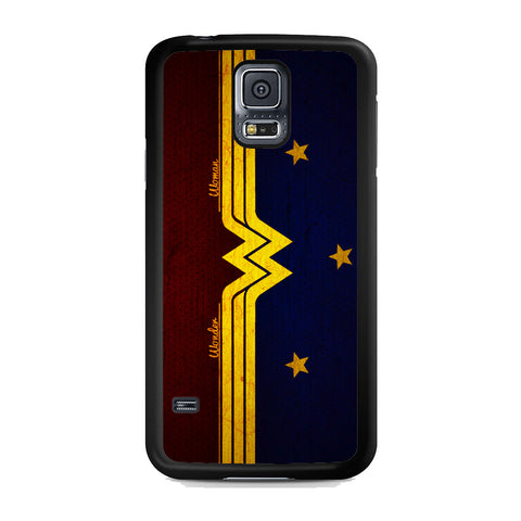 Wonder Woman Red Blue Logo Samsung Galaxy S5 Case
