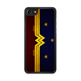 Wonder Woman Red Blue Logo iPhone 8 Case