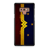 Wonder Woman Red Blue Logo Samsung Galaxy Note 9 Case