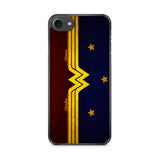 Wonder Woman Red Blue Logo iPhone 7 Case