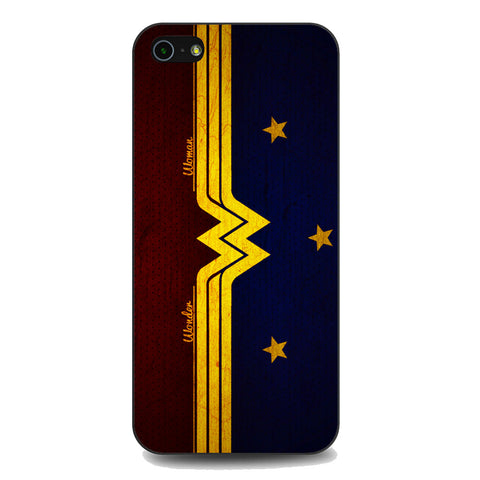Wonder Woman Red Blue Logo iPhone 5 | 5S | SE Case