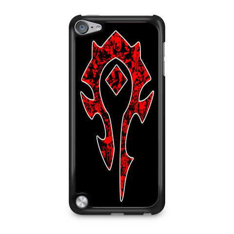 World of Warcraft Horde Red Black Logo iPod Touch 5 Case