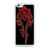 World of Warcraft Horde Red Black Logo iPhone 6 | 6S Case