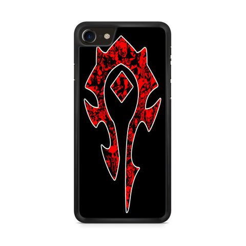 World of Warcraft Horde Red Black Logo iPhone 8 Case