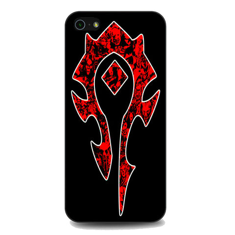 World of Warcraft Horde Red Black Logo iPhone 5 | 5S | SE Case