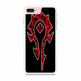 World of Warcraft Horde Red Black Logo iPhone 7 Plus Case