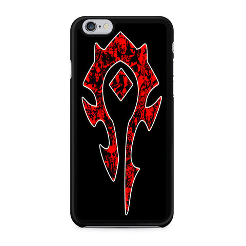 World of Warcraft Horde Red Black Logo iPhone X | XR | XS | XS Max Case