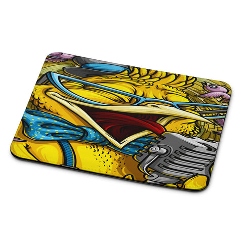Yellow Parrot Sing Mouse Pad