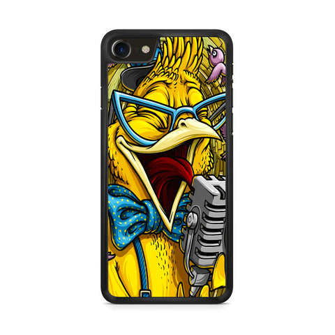 Yellow Parrot Sing iPhone 8 Case