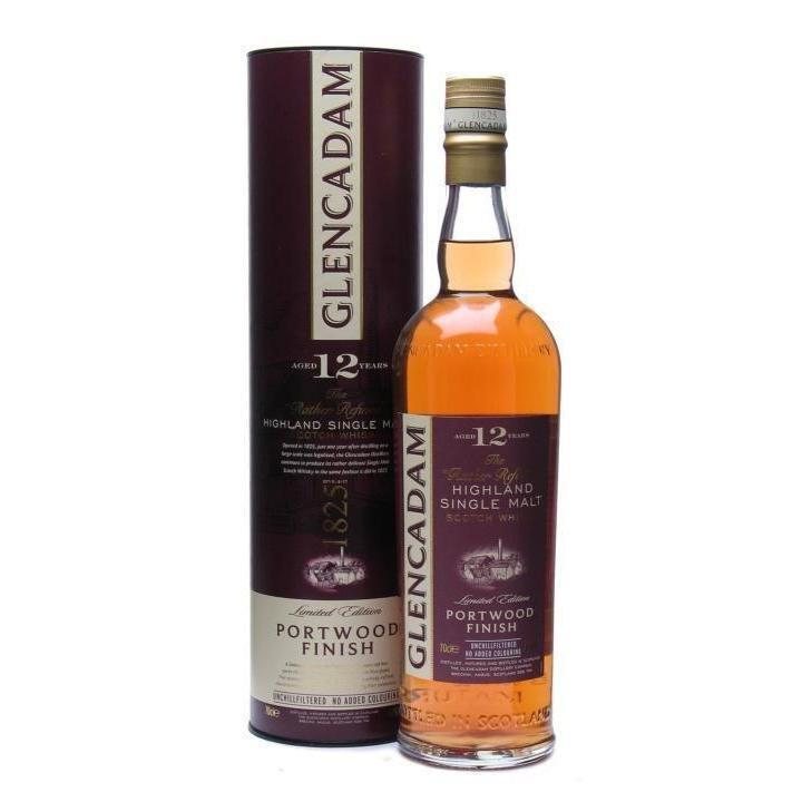 Glencadam 12 Year Old Portwood Finish whisky LIQUOR PH 700ml
