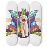 Moji Skateboard Wall Art White