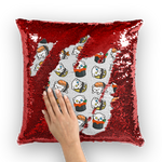 Moji Sushi Addiction Sequin Cushion / Cover