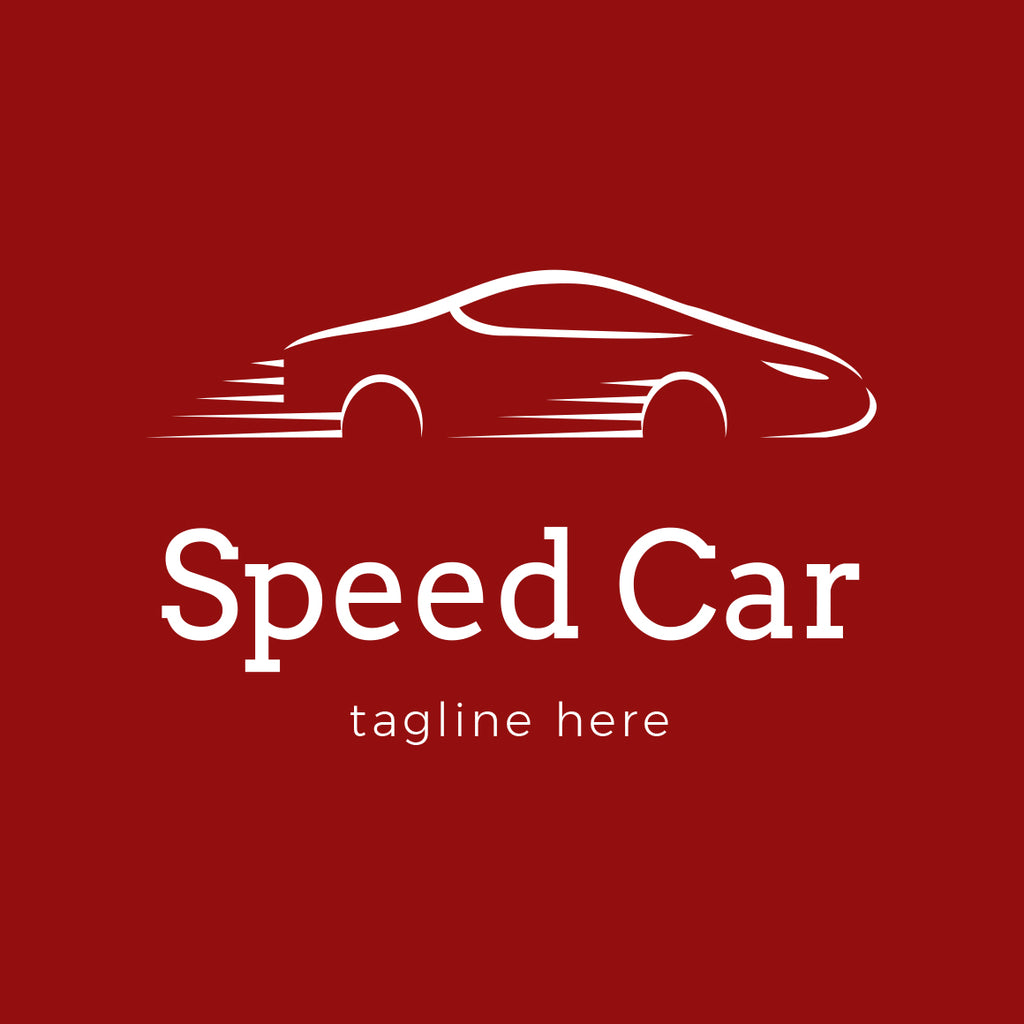 Modern speed car logo