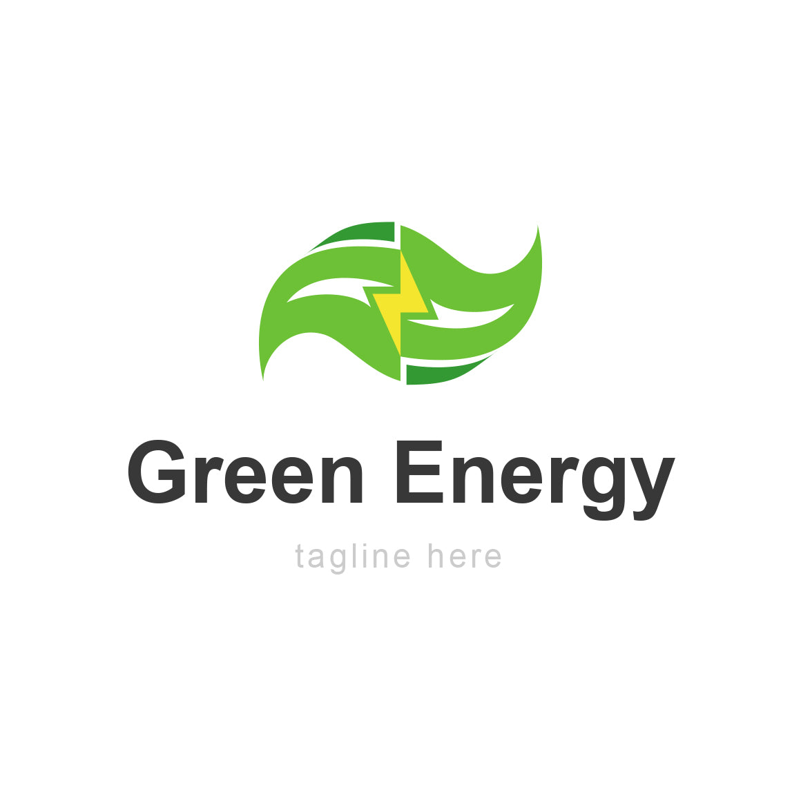 Green power energy logo