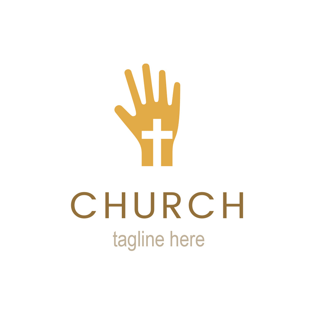 Church hand logo template