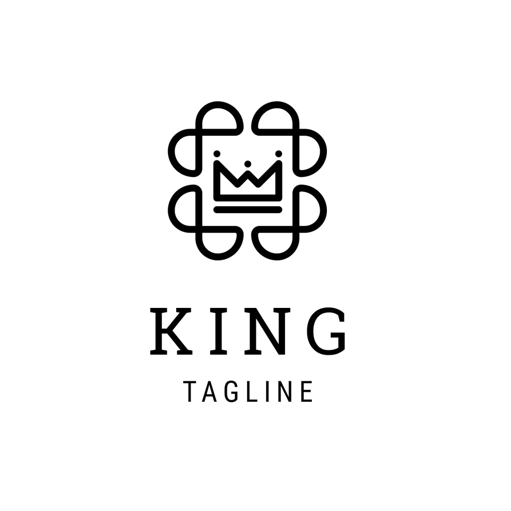 King crown abstract logo template