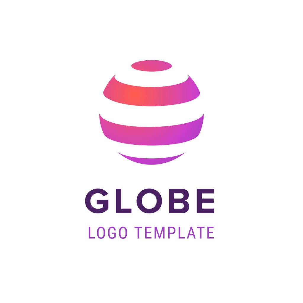 Colorful Globe logo template
