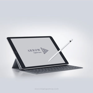 Minimalistic creative outline labirint arrow Logo Template