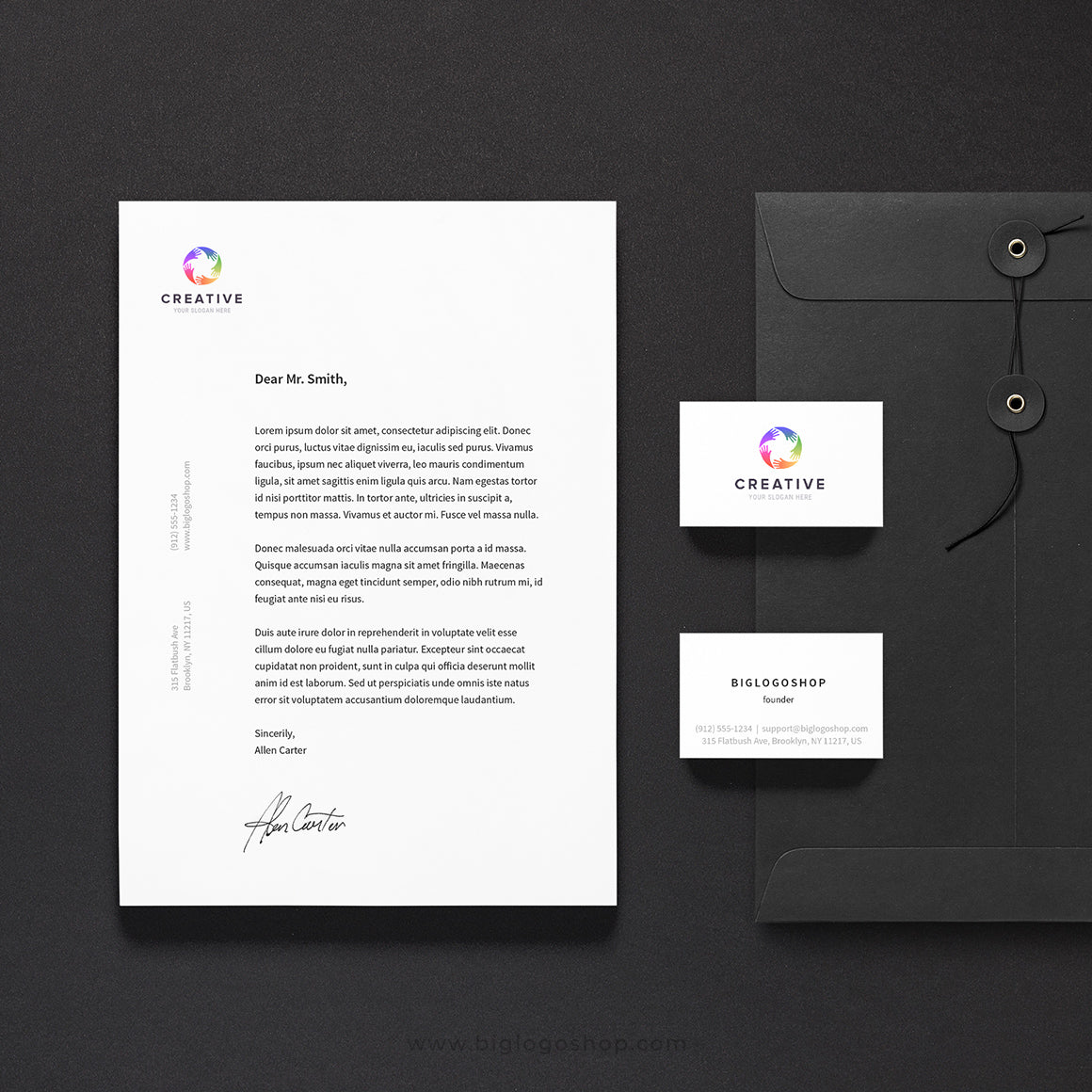 Conceptual circle spiral of colorful hand prints logo