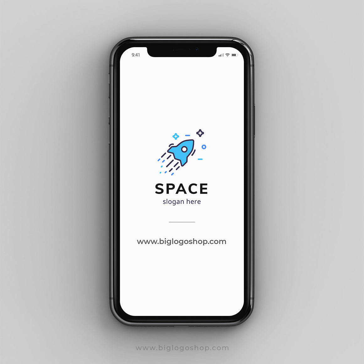 Rocket spaceship logo design