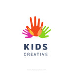 Kids creative template logo