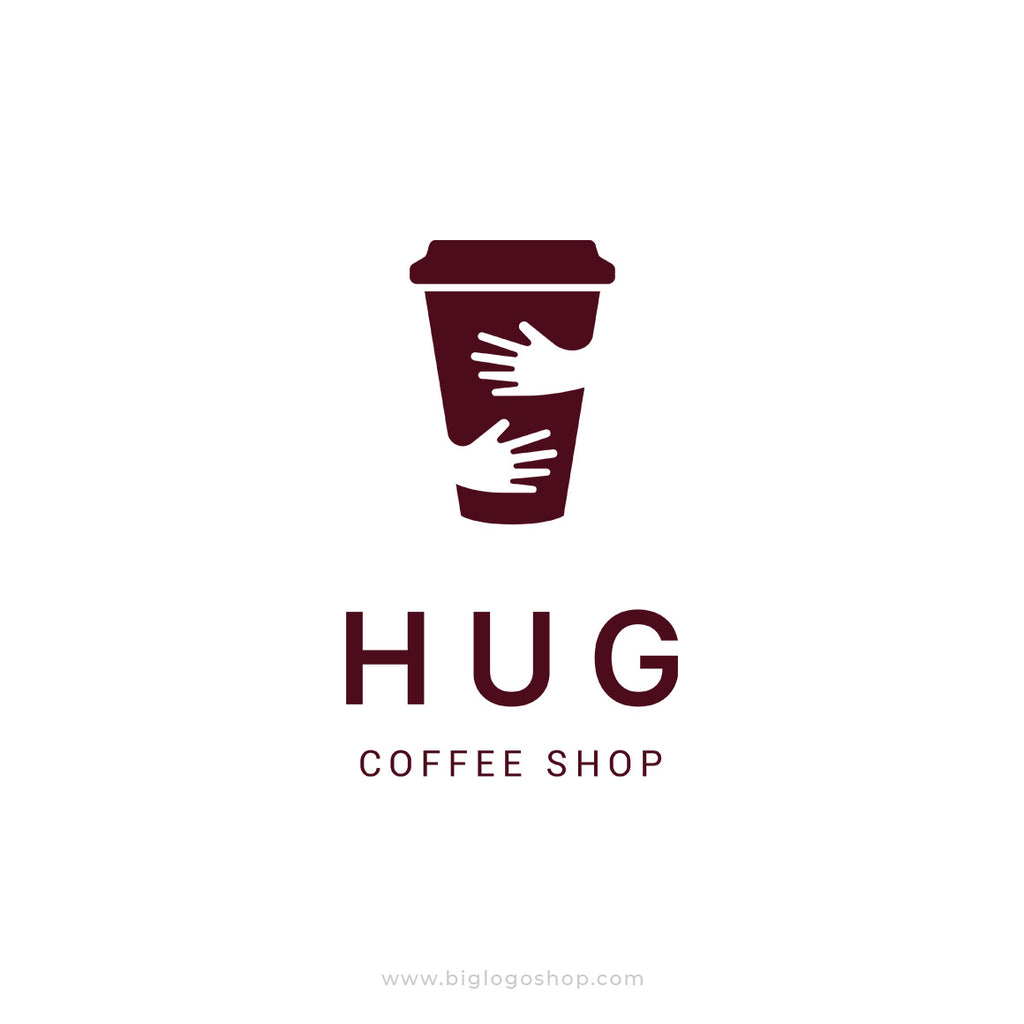 Coffee cup hug logo