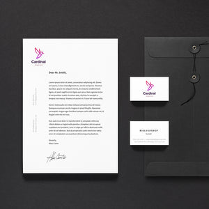 Cardinal Bird Exclusive logo template