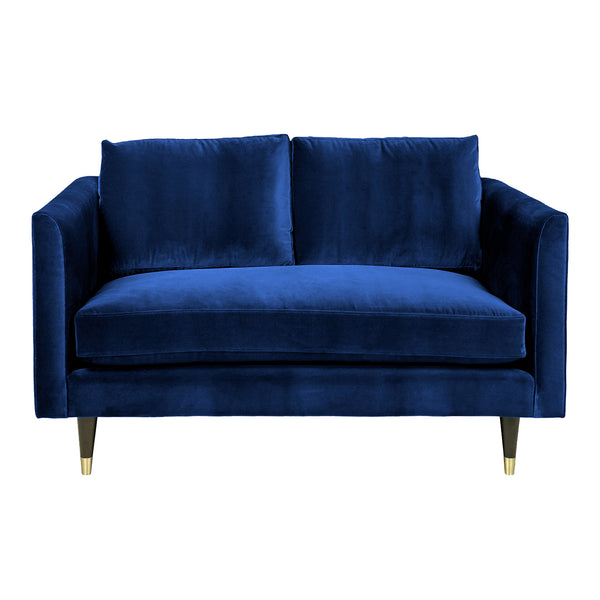 Henry Two Seater Velvet Sofa - Blue