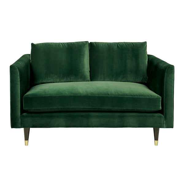 Henry Two Seater Velvet Sofa - Green