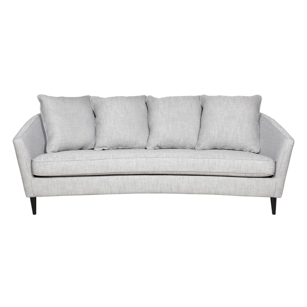 Monroe Three Seater Linen Sofa - Grey