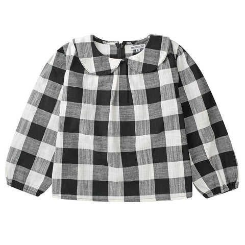 Magnolia smock - black and white check