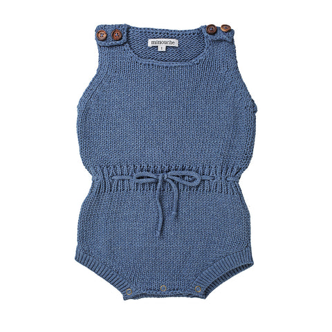 Knit romper - blue