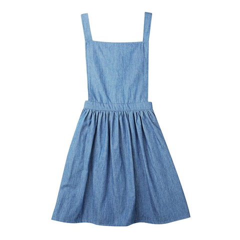 Matilda pinafore - chambray