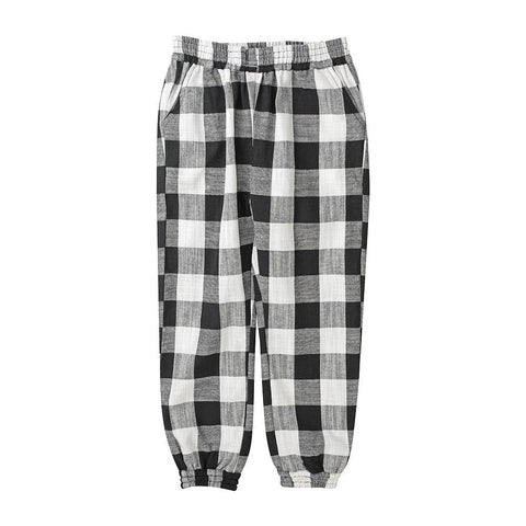 Slouchy pant - black and white check
