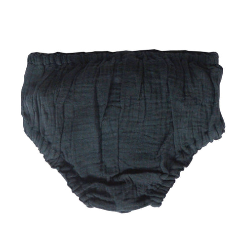Basic unisex bloomer - charcoal double gauze