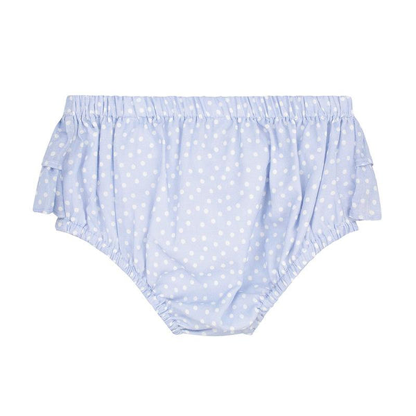 Emma bloomers - blue spot cotton voile