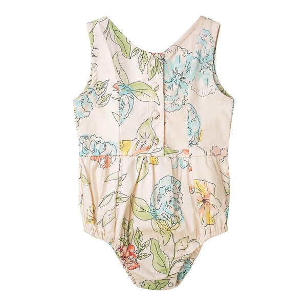 Evie playsuit - floral cotton voile