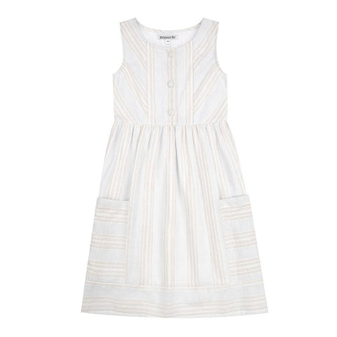 Kate womens dress - striped cotton