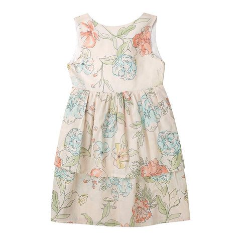 Lila dress - floral cotton voile