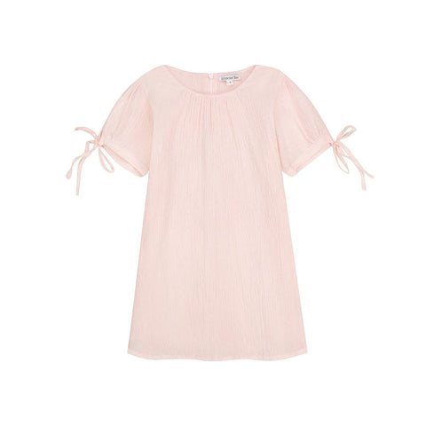 Minnie dress - pink cotton crepe
