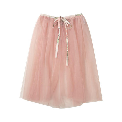 Tulle playskirt/cape (pink/floral)